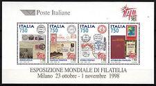 BLOC TIMBRE ITALIE NEUF N° 18 MILAN EXPO PHILATELIQUE 1998