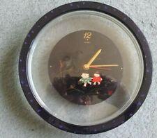 Tochigi Tokei Japan Quartz Battery Round Decorated/clear plastic Clock 247mm dia