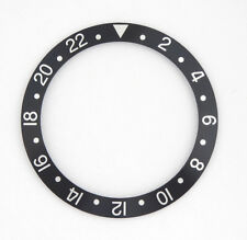 New Black and Silver Bezel Insert For Rolex GMT 16750