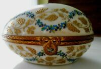 Egg Box Le Tallec Porcelain  FRANCE Atelier Camille 19th Cent Antique