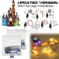 LED Licht Beleuchtung Set nur Für lego 71040 Für Disney Schloss Steine Spielzeug