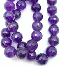 "16"" Strand Genuine Amethyst Beads - 12mm Round - Beautiful & Quality !"