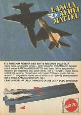 X2103 Lancia Aerei Mattel - Pubblicità 1977 - Advertising