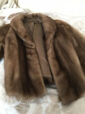 Gorgeous Honey Mink Fur Bolero Jacket Coat - Soft Shiny Pelts S-M