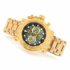 NEW Invicta 52mm Coalition Forces Chronograph Abalone Dial Gold Tone Watch 26504
