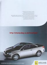 Renault Megane Coupe-Cabiolet Range 2005 Magazine Advert #2714