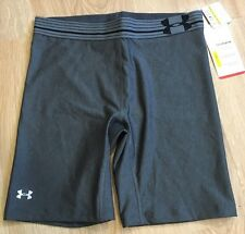 Under Armour Shorts Women's Size Small Fitted Heat Gear Gray NEW!!