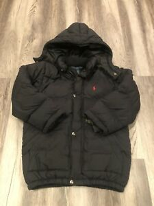 Polo By Ralph Lauren - Toddler Boys - Full Zipper - Black Down Jacket Size 6T