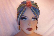 "Chemo Cancer Turban Twilight Blue Arrow Print  ""Something4you"" Hat Tichel Hijab"