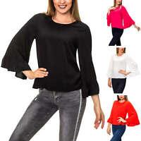 Only Damen Blusenshirt Langarmshirt Basic Shirt Top Bluse Tunika SALE %