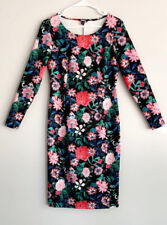 NWOT Long Sleeve Bodycon Dress Floral Project Runway Sz M Ladies Fitted Party