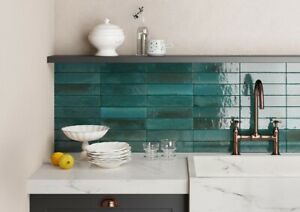 LUME BLUE 6 x 24cm  WALL TILES IN A JOB LOT OF 5 SQ.METERS (COLLECTION ONLY)