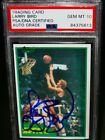 PSA/DNA 10 GEM MINT AUTO 1981 Topps LARRY BIRD Signed Rookie Basketball Card