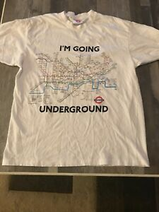 LONDON UNDERGROUND T-SHIRT, SHORT SLEEVES, L, 100% COTTON, NEW