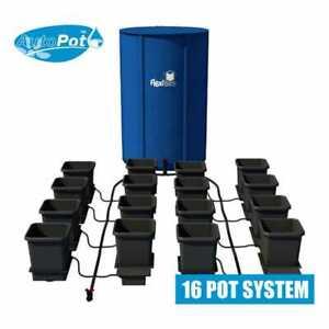 AutoPot 15L 16 Pot System with 225 Litre FlexiTank, 15 Litre Pots & 16mm Pipe.