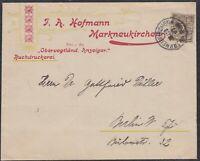 32556) MARKNEUKIRCHEN Sachsen 1897 Herrlicher Firmen-Umschlag nach Berlin