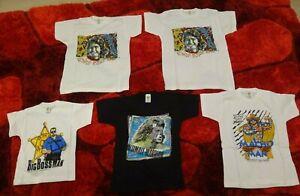 Vintage NEW Original 1990s WWF Kids T Shirt Bundle