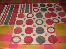 3 Red Reversibile Square Divano Cuscino copre con in buone condizioni