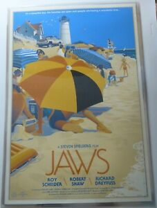 JAWS Poster by Laurent Durieux 2013 - Rare S/N - Mondo