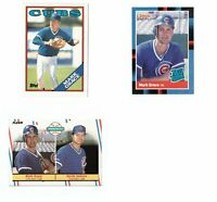 1988 Topps Traded Donruss & Fleer Mark Grace RC Lot Chicago Cubs
