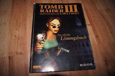 Tomb Raider III Lara Croft offizielle losungsbuch 1998 game spiele instruction