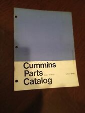 CUMMINS PARTS MANUAL CATALOG DIESEL ENGINE V6 200 CI  TRUCK SEMI USED