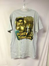 New Men's Duck Dynasty T-Shirt It's Party Time Jack Beige Size L #910Z