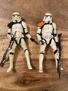 """2 Star Wars Black Series Imperial Military sandtroopers 6"""" Action FiguresNO BOX"""