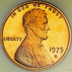 1975-S LINCOLN MEMORIAL PENNY NGC PF 66 RD PROOF BU COLOR SUBTLE TONED UNC (MR)