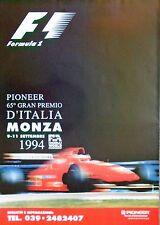 FERRARI F1 MONZA Italian Grand Prix 1994 sarebbero Berger POSTER ORIGINALE 98 C x 69 cm