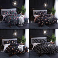 Luxury Printed Duvet Cover Pillowcase Bedding Set Single Double King All Size