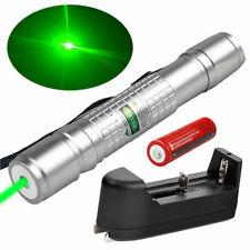 10Miles 532nm High Power Green Laser Pointer Pen Visible Beam Light 18650 Lazer