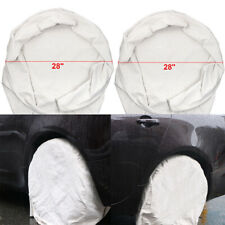 """4PC 28"""" Car Wheel Tire Covers For RV Truck Trailer Camper Motorhome Easy Use tb"""