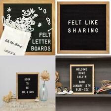 """Felt Like Sharing Black Felt Letter Board 10x10in. Changeable Boards 10""""x10"""" New"""