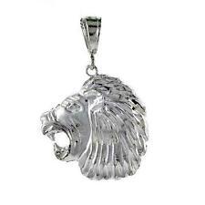 10.0 gram Sterling Silver Lion`s Head Large Pendant