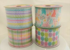 "25 ft Roll of Simply Spring NICOLE Ribbon 2.5"" CHOICE Wire Edge Wired"