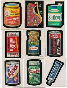 WACKY PACKAGES 1973 SERIES 2 Complete Brown Backs Set of Stickers Checklist