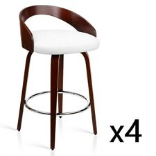 4x Wooden Bar Stool Swivel Barstool Kitchen Dining Chair Wood White 8565