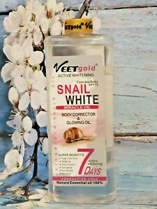 VEETGOLD ACTIVE WHITENING SNAIL WHITE FACE AND BODY MIRACLE OIL SPF15 1000ML
