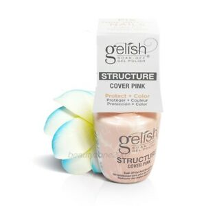6 Bottle Harmony Gelish Brush-on Structure Gel #1140004 Cover Pink 0.5oz
