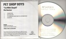 PET SHOP BOYS I'm With Stupid: The Remixes 2006 UK 4-track promo test CD