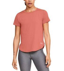 Under Armour Women's UA Sport Crossback Tee Blush Orange Size M