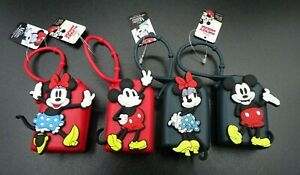 4 Disney Mickey & Minnie Mouse / Travel Carrying Size H.S. 1 oz Holders  NWT
