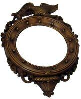 Vintage Syroco Federal Eagle Mirror Gold-tone Round Convex 13 Colonies #4007