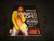 JENNIFER LOPEZ 2013 congrats ad for Hollywood Walk of Fame Star, American Idol