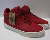 Men's RED Pebbled Leather NWT sz 8 Casual Sneakers ONE-TEN fm CLEAR WEATHER
