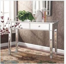 Mirrored Vanity Table Console Desk Modern Contemporary Makeup Bedroom Glam Bath