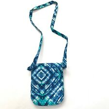 Quilted Fabric Crossbody Messenger Purse Handbag Bag Tie Dye Coachella Blue