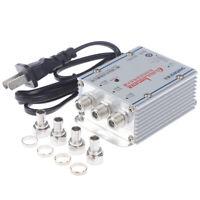 3 Way Signal Amplifier 45~860MHz CATV VCR 20DB TV Antenna Booster SplitterWKLO