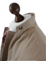 "Men's Crew Clothing Beige Lined Sports Jacket Blazer Size 42"" Cotton 22' P2P"